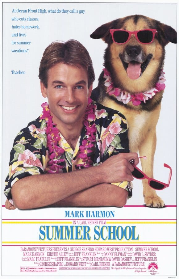 original Summer School movie poster 1987