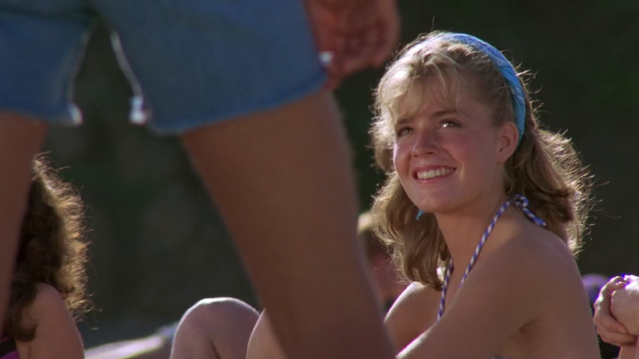 KARATE KID Elisabeth Shue swimsuit beach party