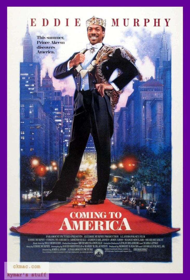 eddie murphy coming to america movie poster