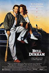 Susan Sarandon Kevin Costner Bull Durham movie poster