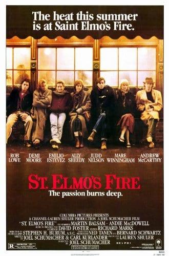 movie poster St. Elmo's Fire Joel Schumacher