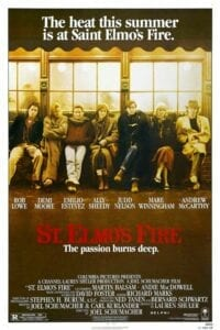 poster for St Elmo's Fire