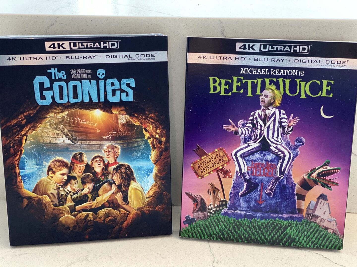 the goonies, Beetlejuice, 4K Ultra HD Blu Ray